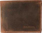 Lundholm Leren portemonnee heren leer portefeuille heren - cadeau voor man heren portemonnee Heren Billfold Bruin