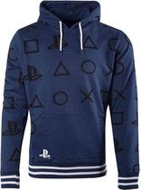 Playstation Hoodie/trui -M- All Over Print Icons Blauw