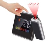 Digitale projectieklok - 5-in-1 projector met wekker / reiswekker + klok + weerstation + kalender