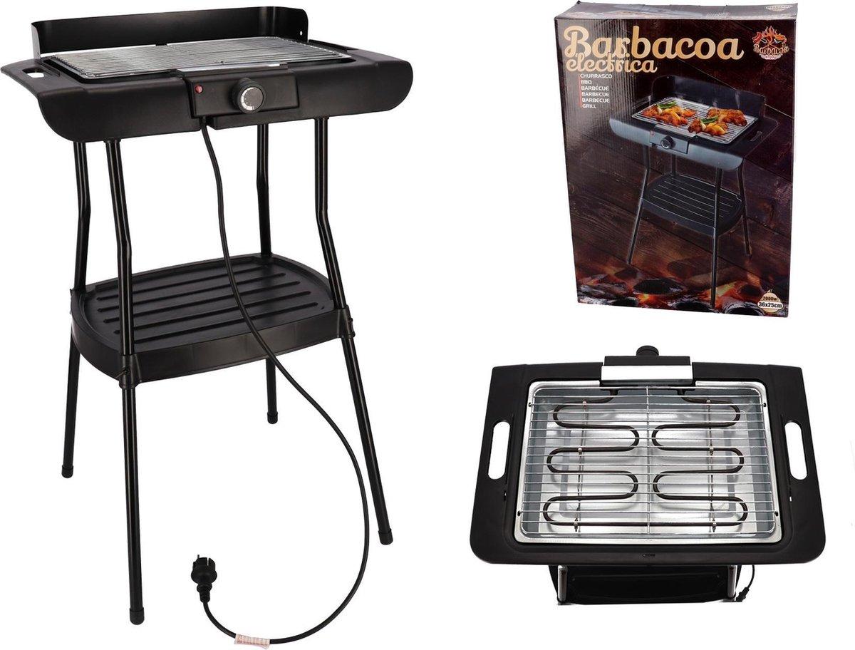 Elektrische Barbecue 2000 Watt - zwart