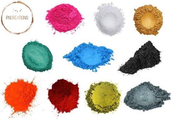 Bol Com Pncreations Pigmentpoeder Fresh Color Mix Kleurpoeder 10 Kleuren 3 Gram Per
