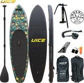 Opblaasbaar sup board complete set - Under ICE jungel - opbergtas - peddel - supbord - supboard - stand up paddle board - watersport - unisex - 304 CM - TOT 100 KG!