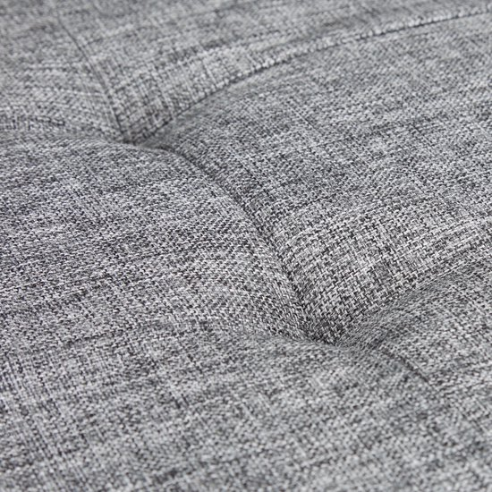 relaxdays Opvouwbare bank + opslag - Bankje linnen - Zitbank grijs of bruin - 114x38x38 cm grijs
