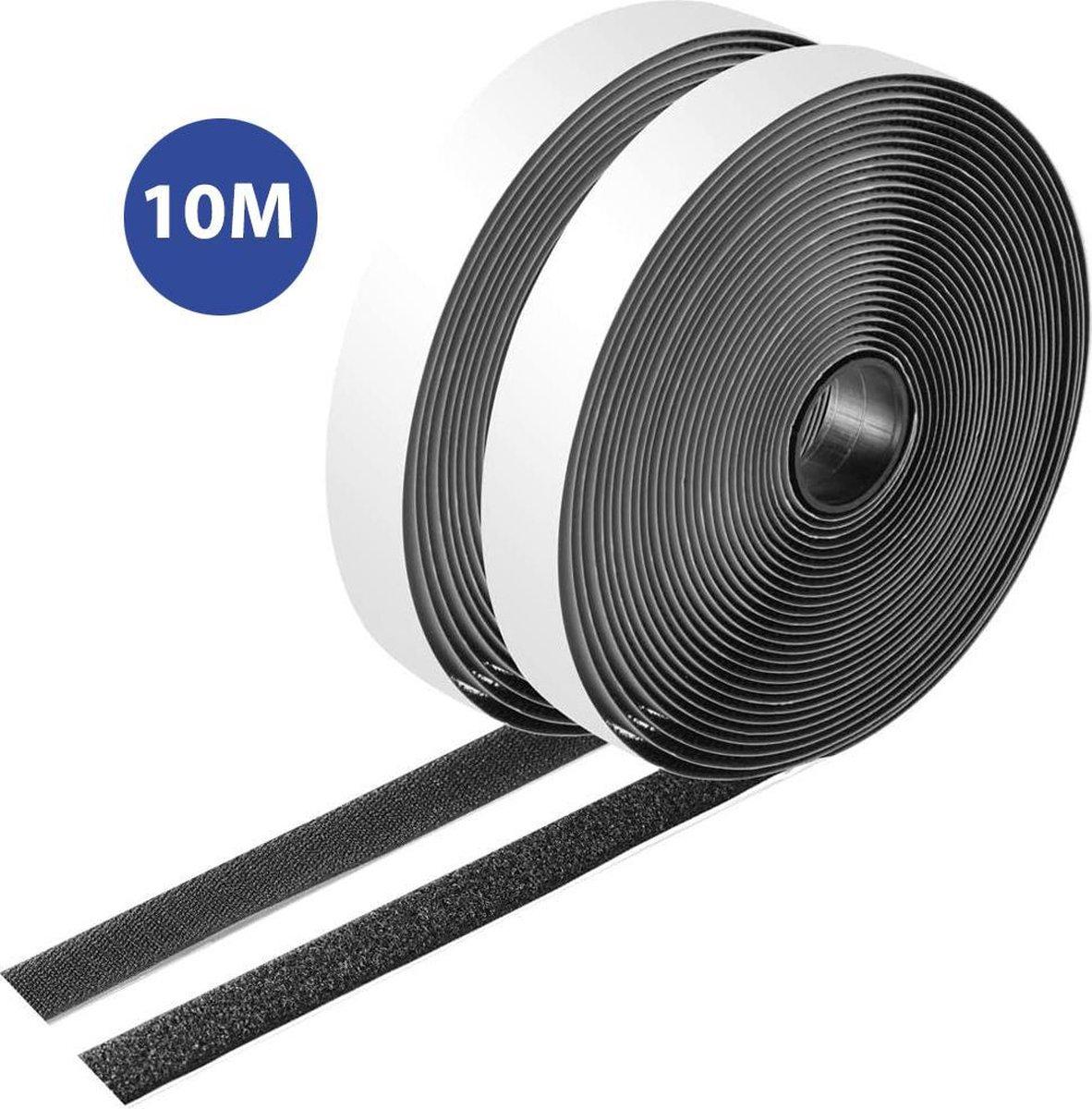 Simple Fix Klittenband - Klittenband Zelfklevend - Velcro - Dubbelzijdig Klittenband - Zwart - 10 Me