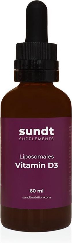 Vitamine D3 Supplement Liposomaal van Sundt© 60 ml - Versterk jouw immuunsysteem in de koude wintermaanden - Gluten-vrij