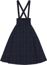 COLLECTIF MAINLINE ALEXA BLACKWATCH SWING SKIRT