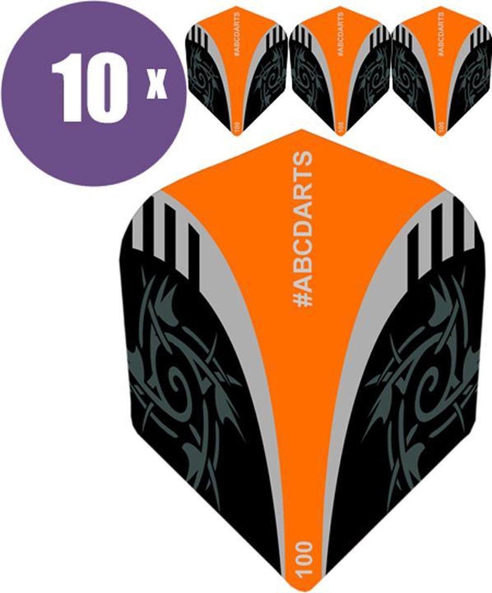 ABC Darts Flights - Extra Stevig - Tribal Oranje - 10 sets (30 stuks Dart Flights)