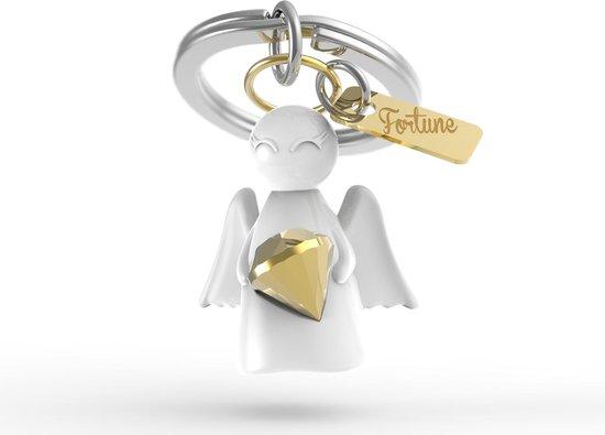 Metalmorphose Beschermengel Sleutelhanger Cadeau Accessoire- Wit/Zilver Good Fortune