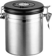koffie bewaarbus -  Koffie bewaarbus luchtdicht - koffieblik - met CO2 uitlaat - Zilver - 500G