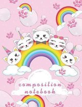 Composition Notebook: Collage Ruled, School Notebook For Girls