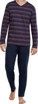 Schiesser Heren Pyjama - Donkerblauw - Maat L