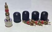 4 Zeer Sterke kunststof Zwarte Ventieldoppen met binnenventiel Voor De Auto -Ventieldop - ventieldopje - ventieldoppen - ventieldopjes -ventiel - dop - autoventiel - kunststof - doppen - autoventieldop