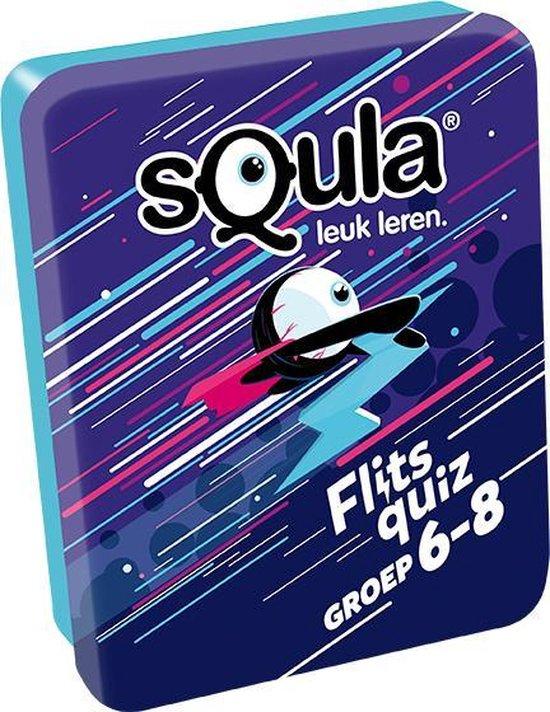 Afbeelding van het spel Squla Flits Quiz - groep 6-8 - Het supersnelle kennisspel - 100 vragen