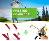 Firsttee - COMBI DEAL - STUNTPRIJZEN - Premium SPEED TRAP & SWING GUIDE - Verbeter je swing - Golfswing - Swingtrainer - Golf accessoires - Golf sport - Training - Golftrainingsmateriaal - Trainer - Cadeau - Houding - Speedtrap - Swingguide - Golfset