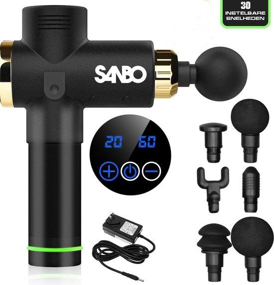 Sanbo - Massage gun - Klop en Vibratie Massage - Zwart