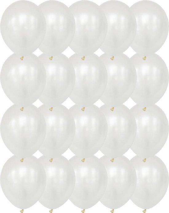 Premium Kwaliteit Latex Ballonnen, Wit, 20 stuks, 12 inch (30cm) , Verjaardag, Happy Birthday, Feest, Party, Wedding, Decoratie, Versiering, Miracle Shop