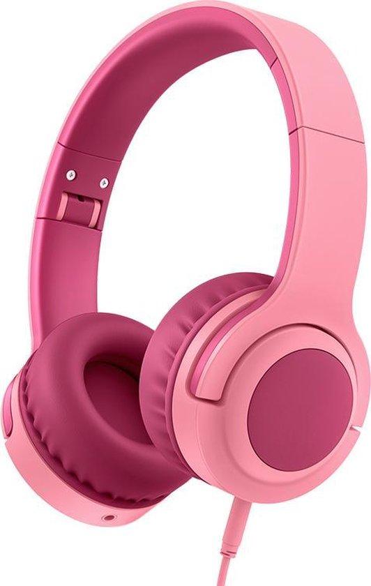 Lovnix Q2 - On-Ear Kinderkoptelefoon met Volume Begrenzing 93dB - Headset voor Kinderen - Paars