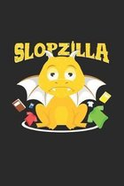 Slopzilla: 6x9 Dragons - grid - squared paper - notebook - notes
