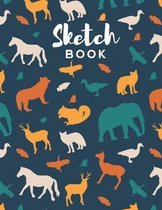Sketch Book: 8.5 x 11 Sketchbook for Creative Drawing and Sketching Activities For Kids and Adults