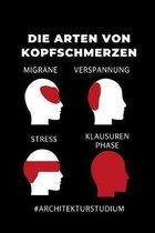 Die Arten Von Kopfschmerzen Migr�ne Verspannung Stress Klausuren Phase #architekturstudium: 52 WOCHEN KALENDER f�r Architekten - Geschenkidee f�r Stud