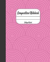 Composition Notebook: 7.5 x 9.25, College Ruled, 110 Pages, Pretty Cover Notebook for Girls Teens Women