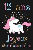 12 ans Joyeux Anniversaire: Cadeau Anniversaire Fille 12 ans