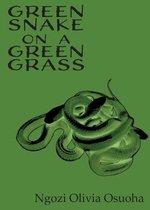 Green Snake on a Green Grass
