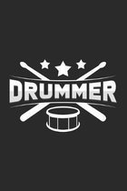 Drummer: 6x9 - grid - squared paper - notebook - notes