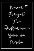 Never Forget The Difference You've Made