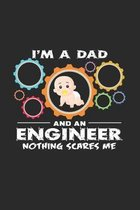 I'm a dad and an engineer: 6x9 Engineers - grid - squared paper - notebook - notes