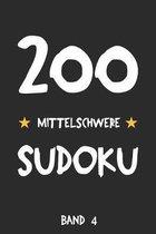 200 Mittelschwere Sudoku Band 4: Puzzle R�tsel Heft, 9x9, 2 R�tsel pro Seite