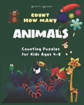 Count How Many Animals - Counting Puzzles For Kids Ages 4-8