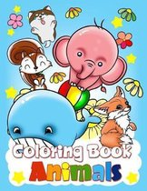 Coloring Book Animals: Children Activity Books For Kids Ages 4-8, Boys, Girls, Fun Early Learning For Toddler 2-4
