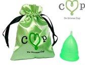 De Groene Cup, Model V, Voor wie voor het eerst gaat menstrueren (tieners) - herbruikbare menstruatiecup (Maat XS, extra small)