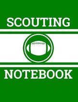 Scouting Notebook: Football Coach Notebook with Field Diagrams for Drawing Up Plays, Creating Drills, and Scouting