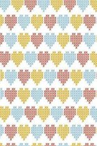 Stitched hearts in blue red and orange: Sweet notebook for lovers and beloved ones