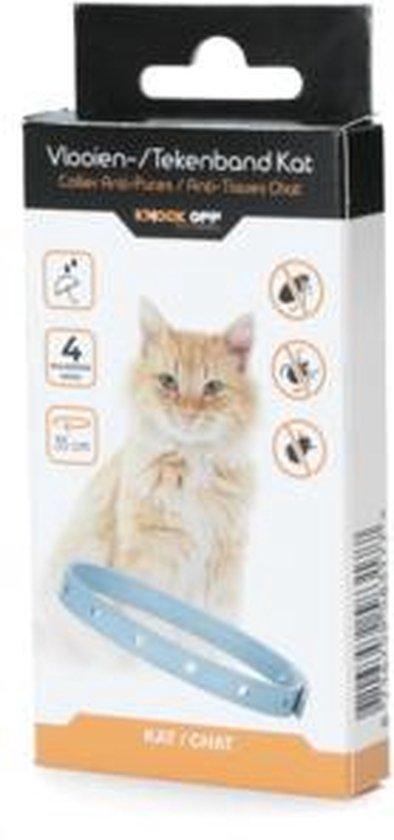 Knock Off vlooien-tekenband 35 cm voor katten