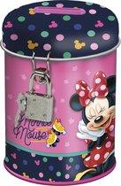Disney Minnie Mouse Spaarpot met slotje - 11.5 cm - Roze