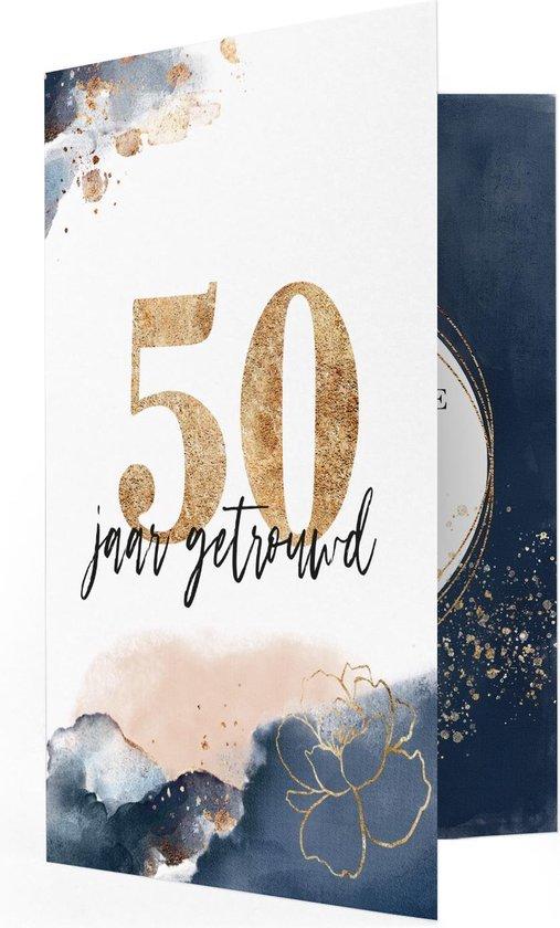 Jubileum 50 Jaar Getrouwd Muziekkaart - Locomix