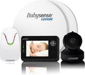 Bol.com-Luvion Essential Limited Black Edition Babyfoon met Camera + Babysense 7 - Sensormatje - 5 Sterren Veiligheidsvoordeelbundel-aanbieding