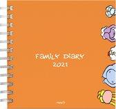 Vis familie agenda of familieplanner 2021 - ringband - 16.3 x 16.3 cm  - lannoo - voor maximaal 5 personen
