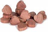 LaundrySpecialist® FUNCTIONELE CEDERHOUTEN GARDEROBEHARTEN 15 stuks – Premium kwaliteit cederhout voor een natuurlijke geur en natuurlijke bescherming tegen motten en insecten