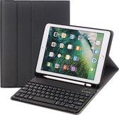 YONO iPad 9.7 Hoes met Toetsenbord (2018) - Qwerty Keyboard Case - Zwart