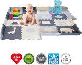 GIZMO Speelmat XL voor Baby/Peuters - EVA Foam Puzzelmat / Speelkleed Met Opstaande Rand - 150x150x1.5 cm