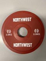 Northwest Fractional Halterschijf | Change Plate | 2 X 2.5 KG | Rood