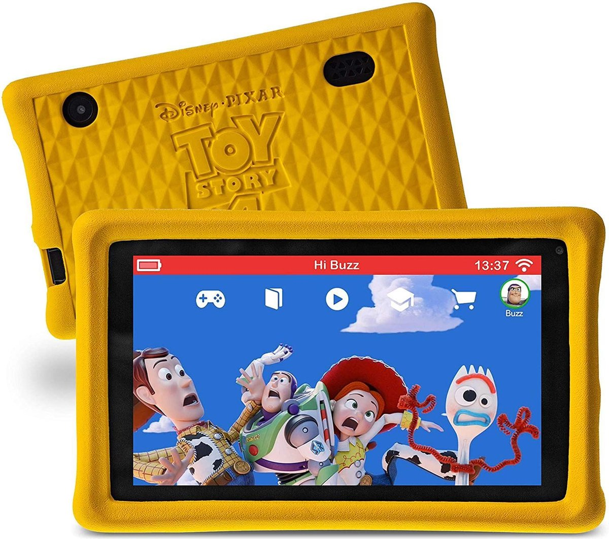 Pebble Gear Kindertablet Disney Toy Story Set Etui- 7 inch – 1GB – Android 8.1- 500 spelletjes – Ouderlijk toezicht