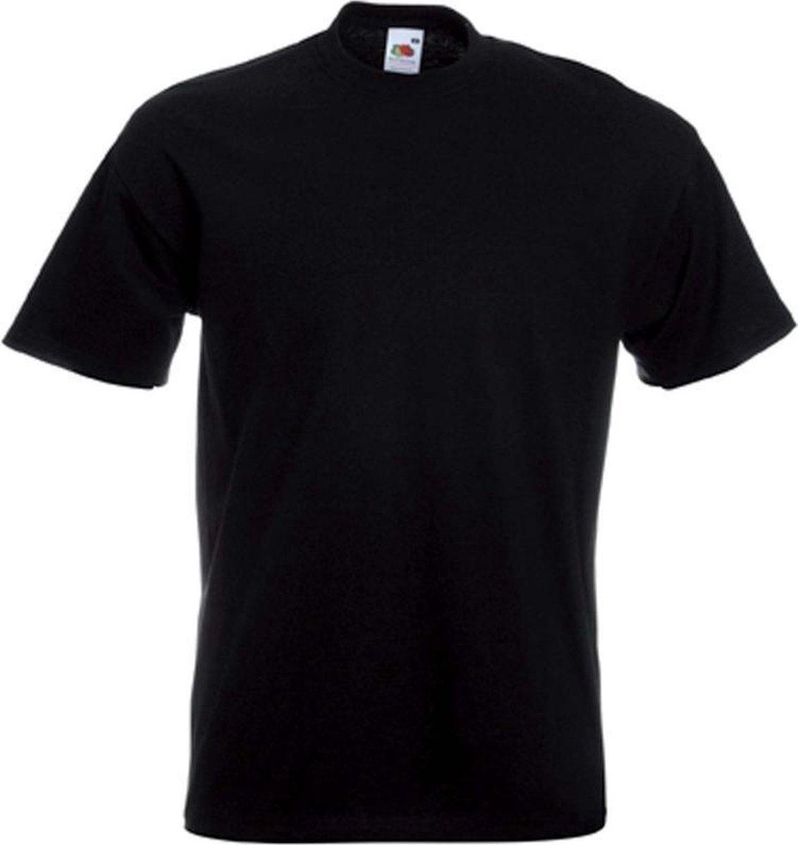 Set van 2x stuks grote maten basic zwarte t-shirts voor heren - voordelige katoenen shirts - Herenkl
