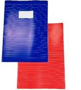 2-pak A4 schriften Basic - Rood / Blauw - Gelinieerd