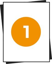 A4 Stickervellen - Magazijnetiketten - 1 Per Vel - 100 Vel In Doos - 210x296mm