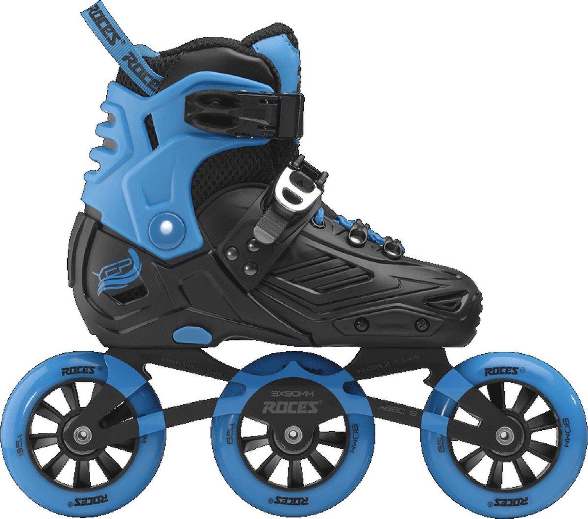 Roces Yep Inlineskates - Maat 31-34 - Unisex - zwart/blauw
